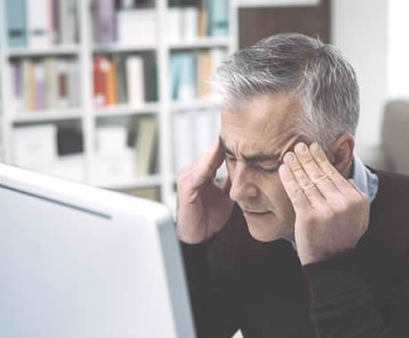 SMSF trustee with headache looking at BAS